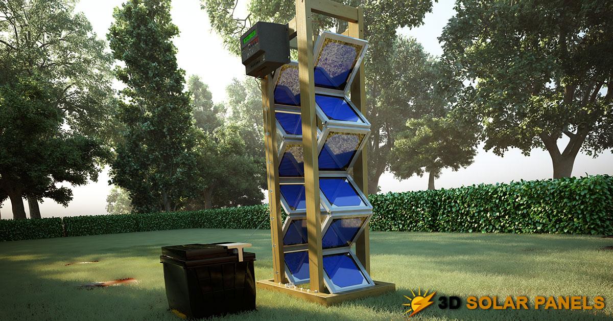 Backyard Revolution Solar Panel real life model