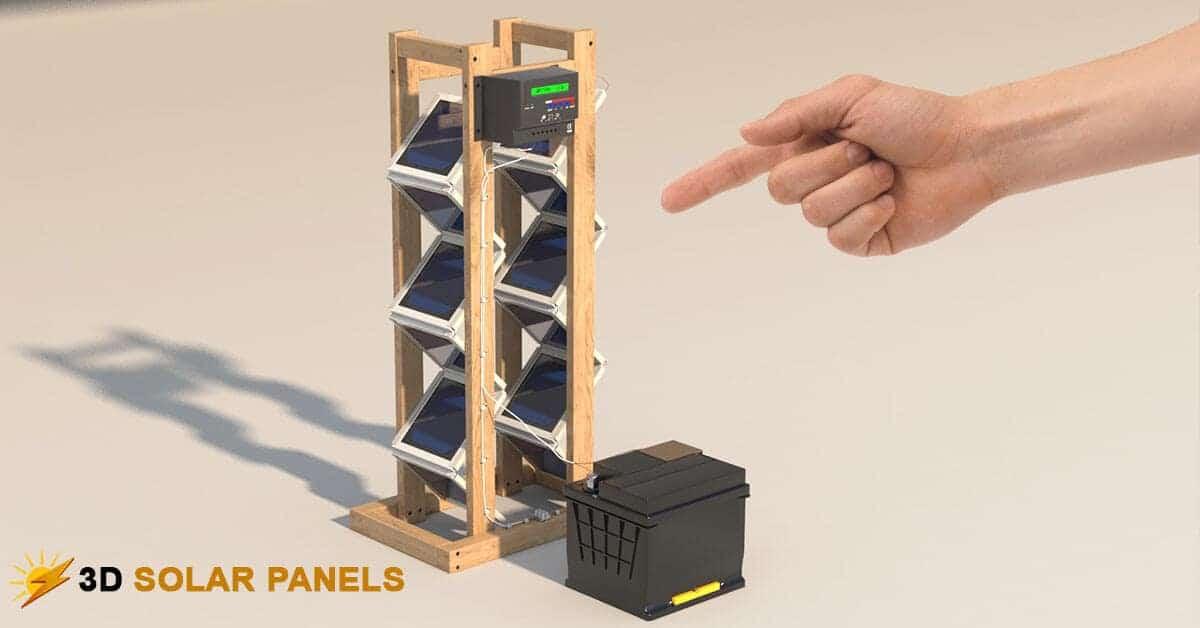 DIY 3D Solar Panel Model