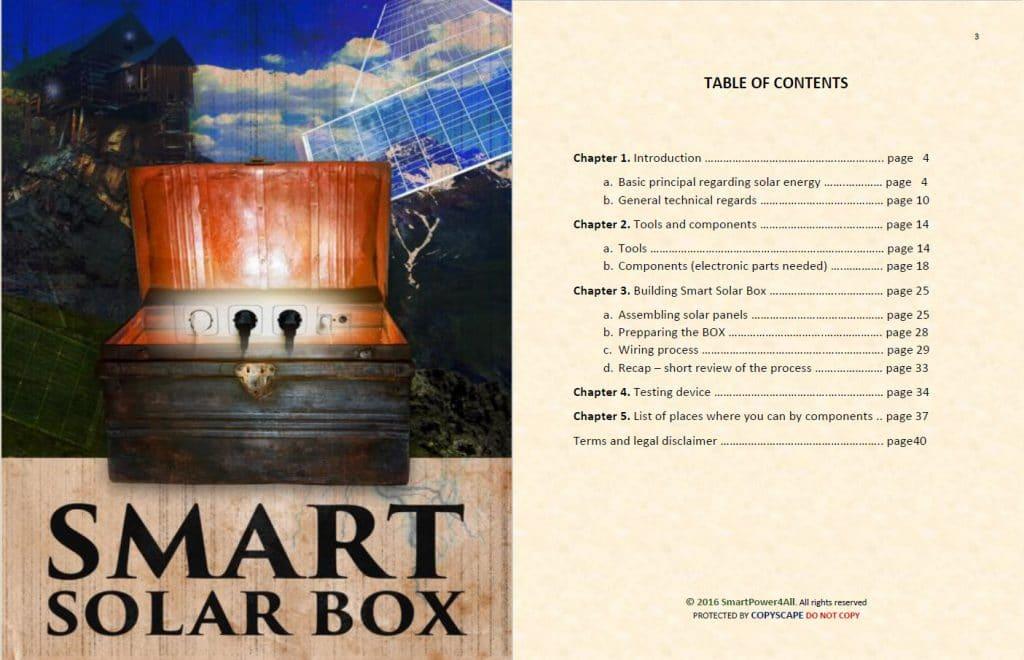 Smart Solar Box PDF table of Content