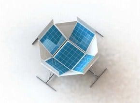 DIY Dish System Model Prototype Image like a Satellite Dish